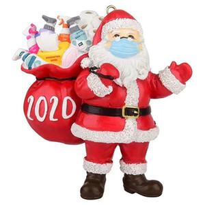 Resina de Navidad de Santa Claus colgante personalizado colgante de resina 3D del árbol de Santa Adornos Niños Juguetes Decoración del árbol de navidad