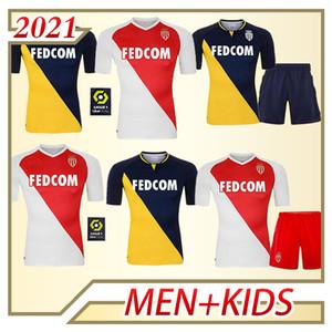 2020 AS Monaco Soccer Jersey Ben Yeder Jovetic Fabregas Glik Gelson .MM Golovin Keita Personalizzato 20 21 Casa Away Camicia da calcio per bambini adulti