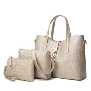 HBP wholesale alligator 3 pcs set composite women handbags fashion tote wallet purse lady 2021 new style purses bags