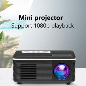 814 LED Mini Projector Portable Projector USB Home Media Projector 1080P Player