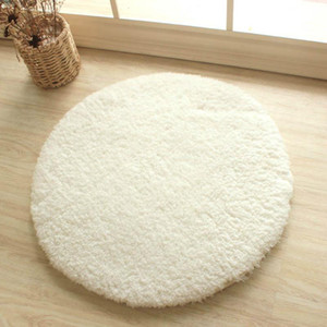 WINLIFE Round And Thick Area Rug Soild Super Soft Mat Anti- Skid Rug For Bedroom Bathroom Yoga Play Computer Chair Mat Area