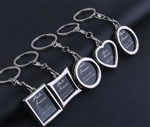 5000pcs Photo Frame Round Heart Oval Rhombus Shape Metal Alloy Keychain Key Chain Car Keychains Couples Keyring Gift K001