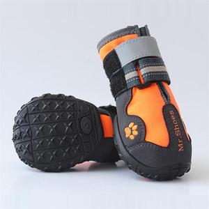 Haustierschuhe Sport-Berg-tragbare Haustiere PVC-Sohlen wasserdichte reflektierende Stiefel perfekt für kleine mittelgroße Hunde 201109