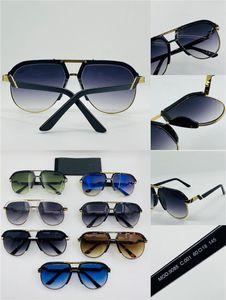 New fashion design men sunglasses 9085 pilot retro half-frame fashion fashionable avant-garde design style must-have for trendy men
