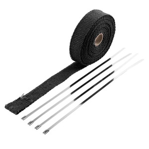 newIncombustible Turbo Manifold Isolier-Exhaust-Header Wrap Tape-Thermal Stainless Zip-Krawatten für Autos Motorräder