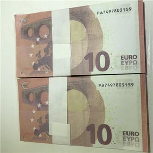 Alta Qualidade sem marca de notas de euro cópia cédula props simulação 20 50 euros dinheiro Real nota falsa adereços E20