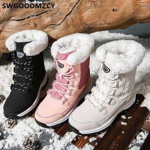 Winterschuhe Frauen Schneeschuhe Rosa Stiefel Mode Knöchel Für Frauen Weibliche + Schuhe Zapatos de Mujer Botas Mujer InvierNo 20201