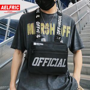 Aelfric Streetwear Tactical Vest Hip Hop Estilo Crossbody Peito Bolsas Pacote Homens Mulheres 2019 Moda Sólidos punck cintura Bag Bloco de Fanny C1026