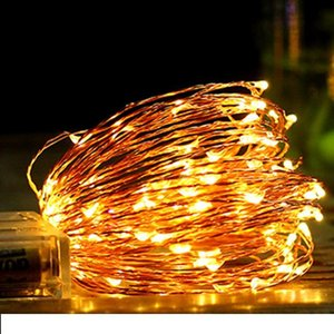 10M 100 LED Copper wire operated led string Fairy Lights Battery Model For Wedding Party Night Club Christmas