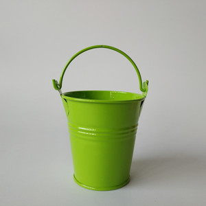 D7xH7CM Easter Egg Pot Metal pails Mini Buckets Tin Pails Small Succulents Pot Candy Box