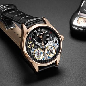 Nuovo Swiss Watch doppio autentico Tourbillon vigilanza meccanica automatica Mens Watch Produttore