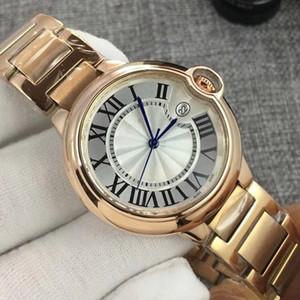 2020 Moda Oro de calidad superior del reloj para mujer casual 316 de la vendimia 36 33MM relojes de cuarzo Mujer Hombre Señora Reloj de pulsera Montres Orologio Femmes regalo