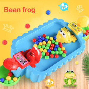 Family Sports Interactive Checkerboard Action Game Frog Eating Beans For Kids Gift 2 3 4 Players Education Toys Boys Girls