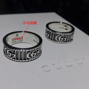 Moda 925 anéis de caveira prata moissanite anelli bague para homens e mulheres Wedding Party dom amantes da jóia de noivado com caixa 002