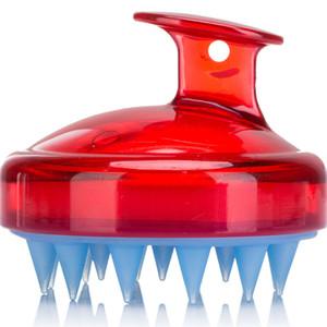 Silicone Shampoo Brush Shampoo Scalp Scalp Masaje Cepillo Cómodo Silicona Peinado Lavado Cuerpo Baño Spa Spa Stimming Massage Cepillos EEE2661