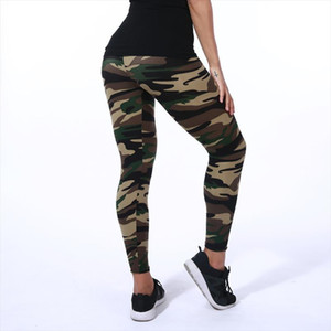 New 2019 Camouflage Printed Women Leggings Fashion Design Female Casual Polyester Soft Elasticity Pant Sexy Army Legging