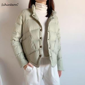 Down Jacket Women Short 90% White Duck Down Outwear Slim Casual Coat Ultra Light Jackets Autumn New Arrival
