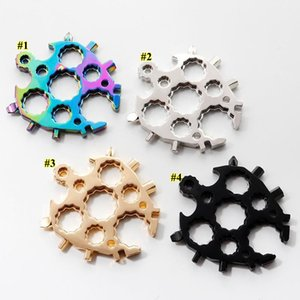 20 in 1 Tool Bottle Opener Turtle Shape Spanner Keyring Outdoor Openers Snowflake Multi Function Spanne Hex Wrench BEA2026