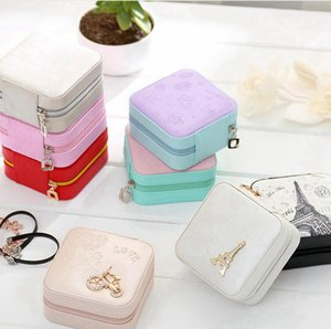 Jewelry Box Earring Necklace Ring Storage Boxes PU Leather Jewelry Storage Case Travel Portable Box Organizer LJJP745