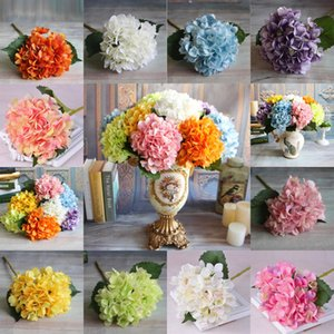 Artificial Hydrangea Flower Head Fake Silk Single Real Touch Hydrangeas for Wedding Centerpieces Home Party Decorative F 5 NGDQQ
