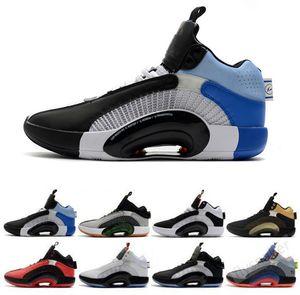 2020 Yeni Erkek Ayakkabı Michael 35s Jumpman Basketbol Ayakkabı 35 XXXV Yerçekimi Erkek DNA Morpho Savaşçı Spor Ayakkabı Boyutu 40-46 Merkezi