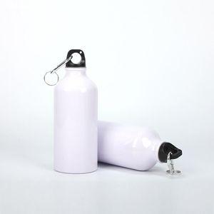 17oz Sublimation Sports Water Bottle Stainless Steel Leak-proof Motion Drinking Bottle Large Volume Aluminum Outdoor Biking Water Flask A09