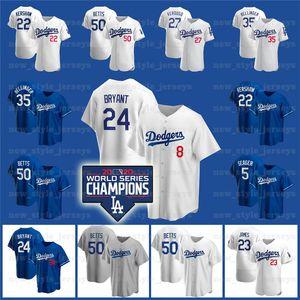 50 Mookie Betts Dodgers Jersey 7 Julio Urias 22 Clayton Kershaw 5 Corey Seper Jackie Robinson Cody Bellinger Enrique Hernandez Turner C1