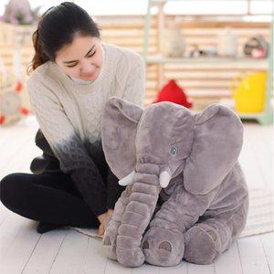 Christmas 40 60CM Elephant Plush Pillow Infant Soft For Sleeping Stuffed Animals Plush Toys Baby 's Playmate gifts for Children LJ201126