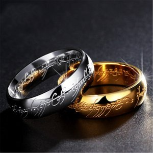 3D The Lord Of The Rings Hobbit Titanium Stainless Steel Ring Wedding Gold Sliver Jewelry Bague for Womens Mens Adults Gifts