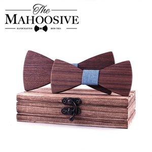 School Boys Kids Children Bow Wedding Plaid Solid Wood Tie Necktie Wooden Bow tie Necktie For Wedding Party Adjustable 200924