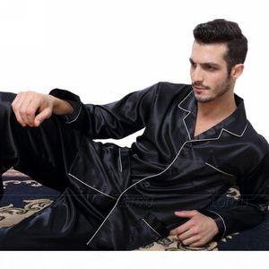 Mens Silk Satin Pajamas Pyjamas Set Sleepwear Set Loungewear U.S. S,M,L,XL,XXL,XXXL,4XL__Fits All Seasons SH190905
