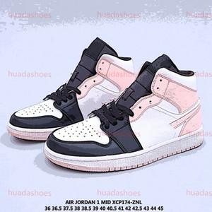 Nike Air Jordan 1 Altos basquetebol dos homens calça as sapatilhas UNC 1s Mens Womans Homenagem Royal Blue Esporte Sneakers Trainers ao ar livre sapatos casuais