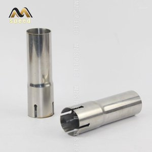 1pcs car Accessories 304 stainless steel pipe Exhaust pipe reducing joint Large to small size Universal muffler sleeve1