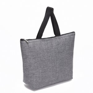 New Men's and Women's Portable Solid Color Handbag 2 colori nero grigio business cotone morbido Plainfyu940