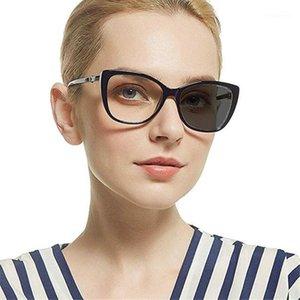 2020 Nova Moda Feminina Sol Photochrômico Leitura Óculos Luz Luxo Diamante Quadrado Reading Óculos UV400 FML1