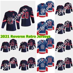 New York Rangers 2021 Retro Retro Hockey Jerseys Ryan Lindgren Jersey Igor Shesterkin Brady Skjei J.T. Miller Derek Stepan Custom Steinsted
