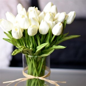 10PCS Tulip Real Touch Artificial Bouquet Fake Flower for Wedding Decoration Flowers Home Garen Decor