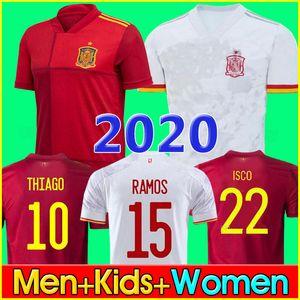 Футболка Испания 2020 Camiseta España PACO MORATA A.INIESTA PIQUE Испания 20 21 Кубок Европы ALCACER SERGIO ALBA мужчины дети женщины 2020 Spain soccer jersey