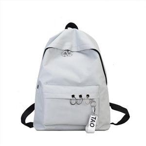 Backpack Womens Female Korean Version Fashion Nylon Ring Decoration Shoulder Bookbags Satchel Travel Mochila Mujer 2020 L5