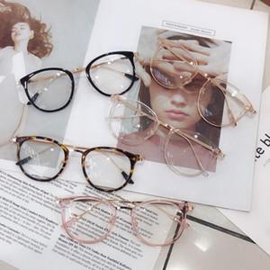 1 unids retro anti azul rayo computadora gafas mujeres redondo ojo de vidrio hombres azul claro bloqueo moda gafas ópticas marcos A96568