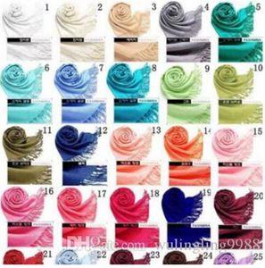 41Colors Hot Pashmina Cashmere Solid Shawl Wrap Women's Girls Damen Schal Weiche Fransen Solide Schal MOQ 20 STÜCKE