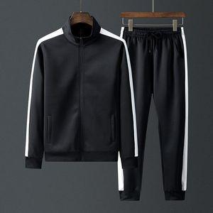 Uomini Tuta autunno insieme delle 2 parti Sport abiti da uomo jogging lato colore Stripe tute palestra vestiti di allenamento abbigliamento Ouftits