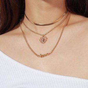 Dichiarazione di Boho Cuore Fiore collane del Choker delle donne della ragazza MULTISTRATO Hollow croce collana amore femminile gioielli all'ingrosso