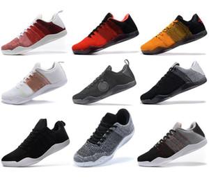 Mens высокого качества Mamba 11 Elite Баскетбол обувь Брюс Ли FTB White Horse Red Horse ахиллесова пята 11s Спортивные кроссовки