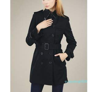HOT CLASSIC WOMEN FASHION ENGLAND MIDDLE LONG TRENCH COAT HIGH QUALITY DOUBLE BREASTED BELTED TRENCH FOR WOMEN S-XXL LRYT