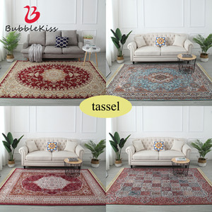 European Style Tassel Soft Carpets For Living Room Bedroom Rugs Home Carpet Delicate Soft Hot Area Rugs Floor Door Mat Decorate 201219