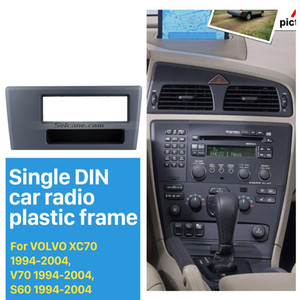 Top Quality 1DIN Car Radio Fascia para 1.994-2.004 Volvo XC70 V70 Quadro S60 DVD GPS guarnição decorativa Kit Adaptador