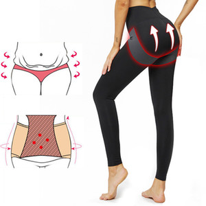 High Waist Slimming Compression Leggings Anti Cellulite Push Up Sexy Gym Clothes For Women Sport Fitness Pants Black Plus Size 201015