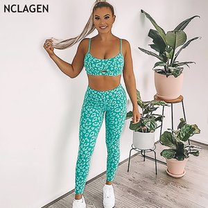 Yoga Suit Floral Printed Bodybuilding Woman Two-piece Set Quick Dry Gym Push-up Running Tank Top Fitness Leggings Set