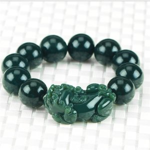 Natural jade products Xinjiang and Tianqingyu bracelet men and women jade string transfer beads n021